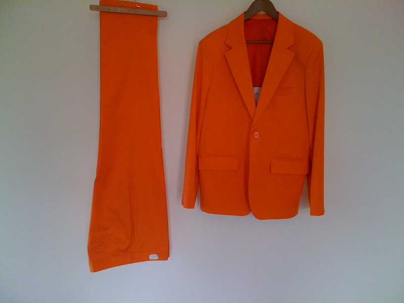 Orange ouftit sample separate pants
