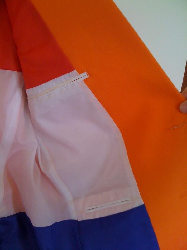 Detail inner lining - dutch flag